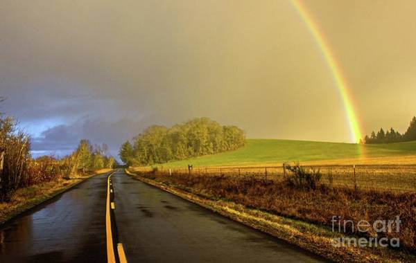 Photograph - Country Road Rainbow by Michael Cross