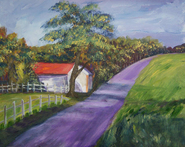 Gandy Wall Art - Painting - Country Road by Renee Gandy