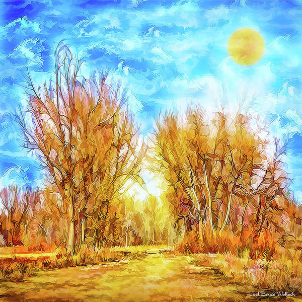 Digital Art - Country Road Wandering by Joel Bruce Wallach
