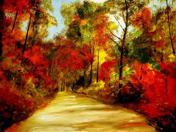 Painting - Country Roads by Phil Burton