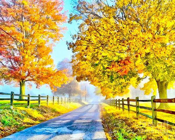 Painting - Country Roads Soft And Wet by Catherine Lott