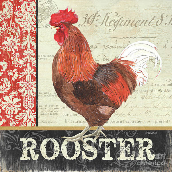 Wall Art - Painting - Country Rooster 2 by Debbie DeWitt