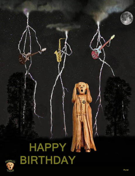 Mixed Media - Country Scream Happy Birthday by Eric Kempson