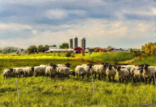 Ken Morris Digital Art - Country Sheep by Ken Morris