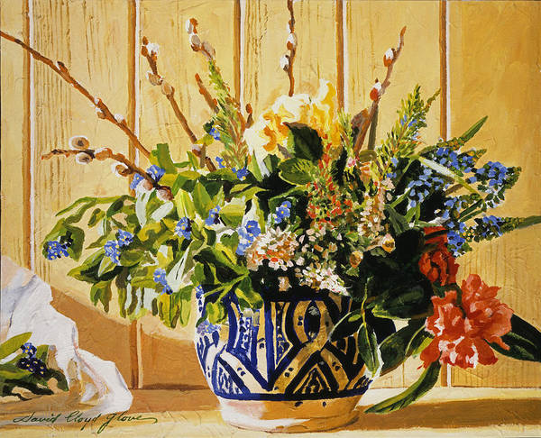Painting - Country Spring Still Life by David Lloyd Glover