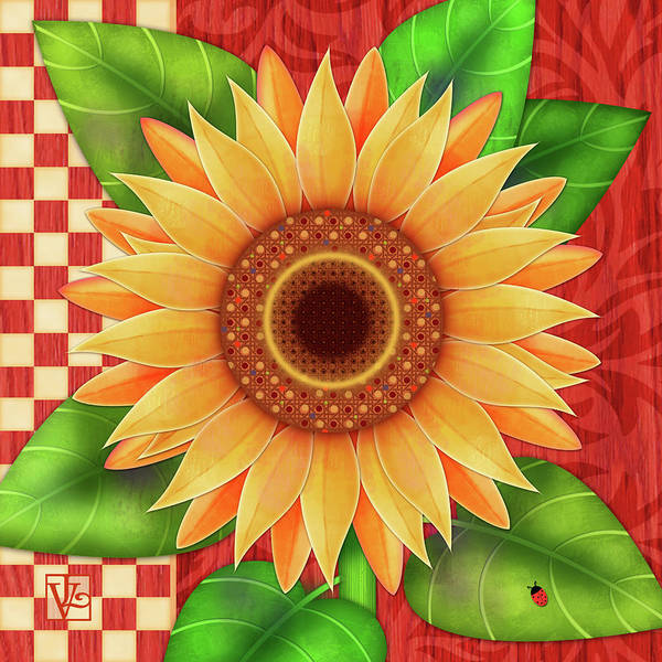 Digital Art - Country Sunflower by Valerie Drake Lesiak