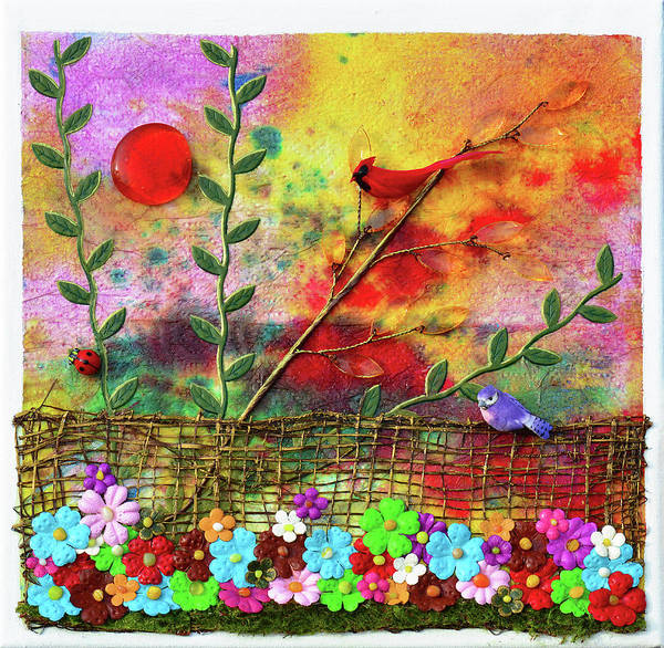 Cardinal Mixed Media - Country Sunrise by Donna Blackhall