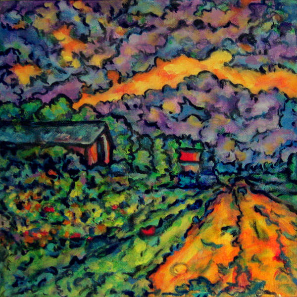 Wall Art - Painting - Country Sunrise by Laura Heggestad