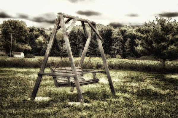 Wall Art - Photograph - Country Swing On A Cold September Evening by Thomas Woolworth