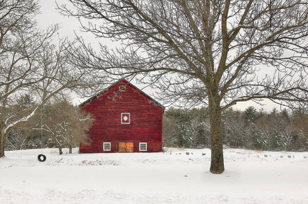 Barn Snow Digital Art - Country Vermont by Sharon Batdorf