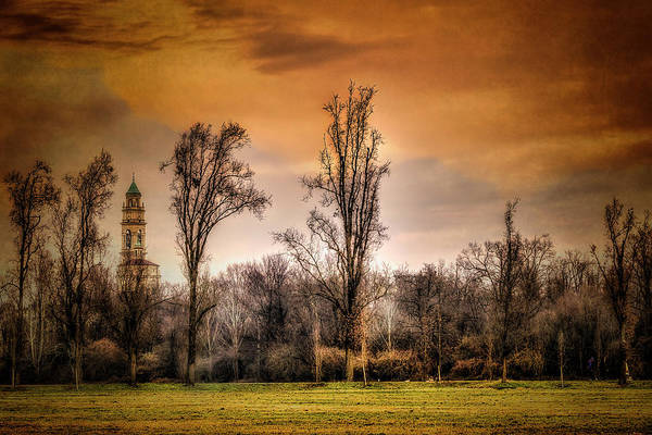 Photograph - Countryscape With Bell Tower by Roberto Pagani