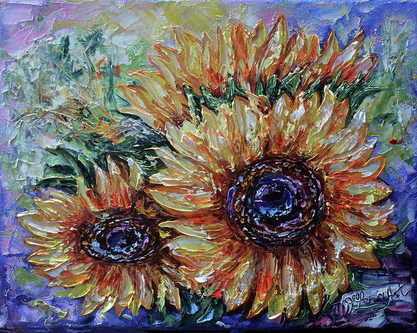 Painting - Countryside Sunflowers by OLena Art - Lena Owens