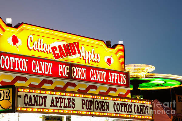 Candy Apples Wall Art - Photograph - County Fair Concession Stand Food Sign by Paul Velgos