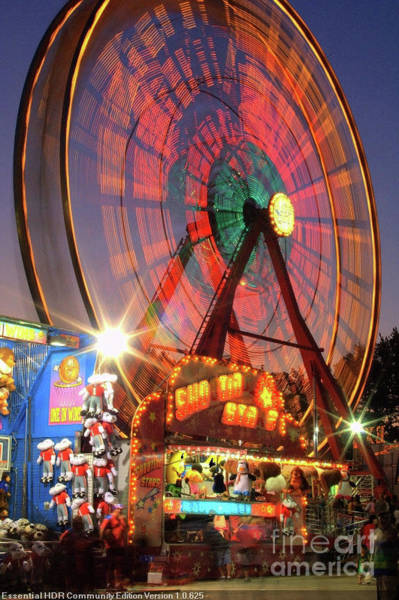 Rockdale County Photograph - County Fair Ferris Wheel 2 by Corky Willis Atlanta Photography