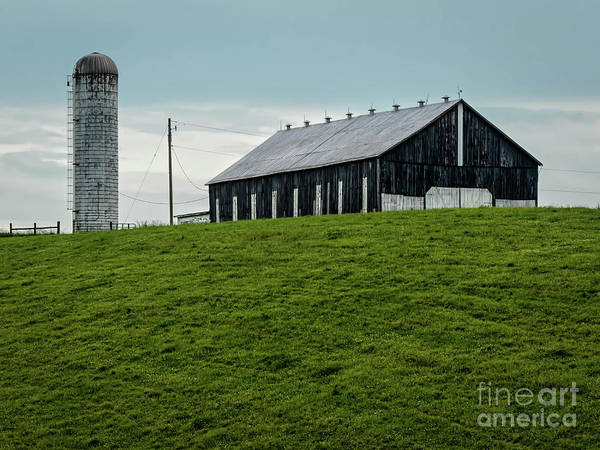 Hillside Wall Art - Digital Art - Backroad Side Barn by Elijah Knight