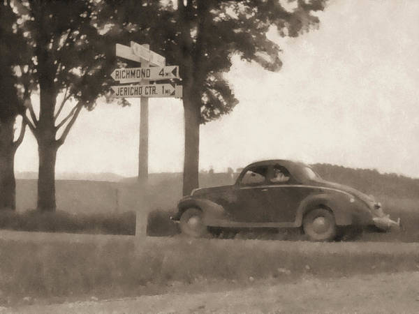 Digital Art - Coupe In The Countryside Sepia by David King