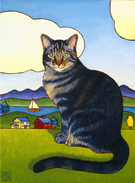 Wall Art - Painting - Coupeville Cat by Stacey Neumiller
