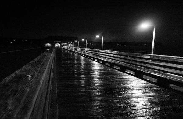 Photograph - Coupeville Wharf On A Rainy Night by Mary Lee Dereske
