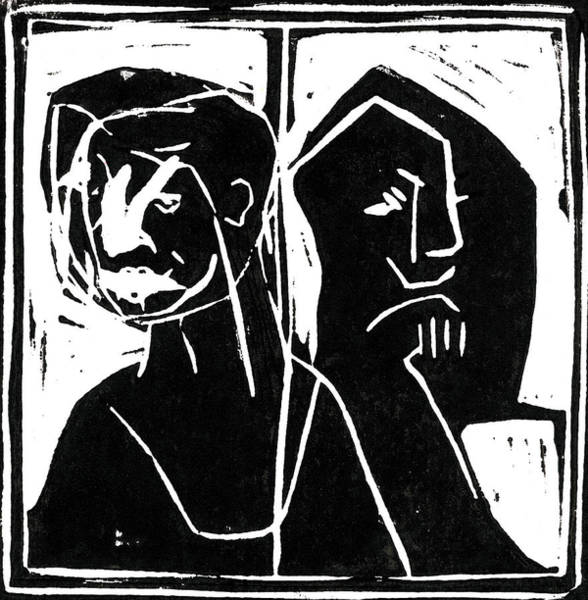 Relief - Couple Argue by Artist Dot