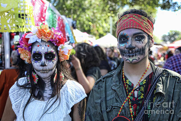 Kahlo Photograph - Couple Day Of Dead 2 by Chuck Kuhn