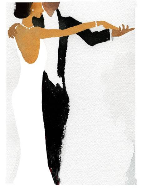 African American Woman Wall Art - Photograph - Couple Dressed Up And Slow Dancing by Gillham Studios