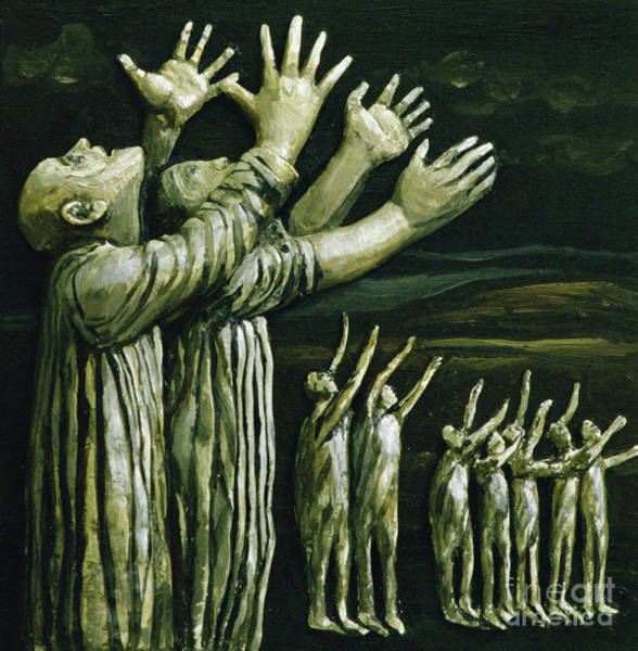 Wall Art - Painting - Couple Reaching Up by Evelyn Williams
