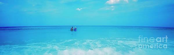Photograph -  Waist Deep Surf Daytona Beach Florida by Tom Jelen
