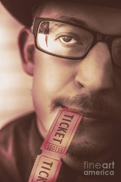 Photograph - Coupon Man Eating Food And Beverage Ticket Stub  by Jorgo Photography - Wall Art Gallery