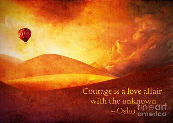 Digital Art - Courage 2016 by Kathryn Strick