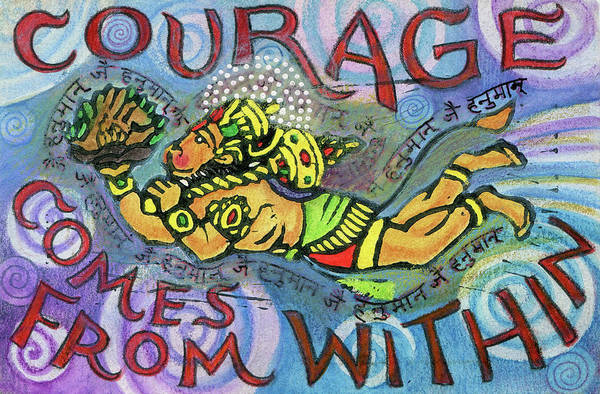 Sacred Mixed Media - Courage Comrs From Within by Jennifer Mazzucco