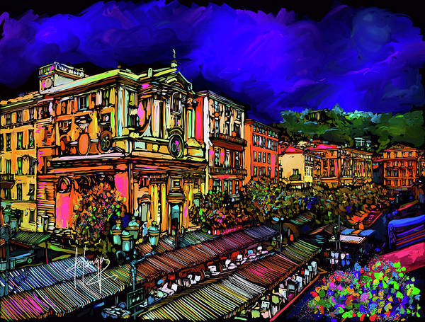 Painting - Cours Saleya, Nice, France by DC Langer