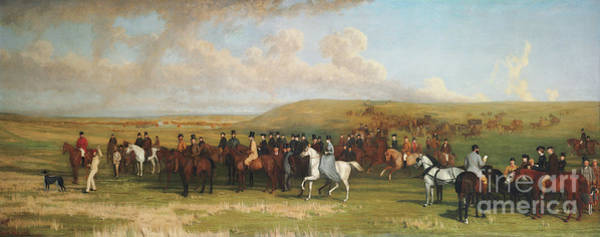 Wall Art - Painting - Coursing At Ashdown Park by Stephen Pearce