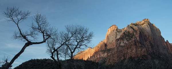 Wall Art - Photograph - Court Of The Patriarchs Sunrise Zion National Park by Steve Gadomski