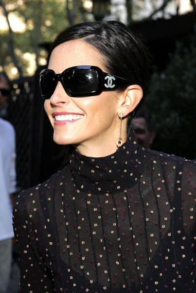 Arrival Photograph - Courteney Cox Wearing Chanel Sunglasses by Everett