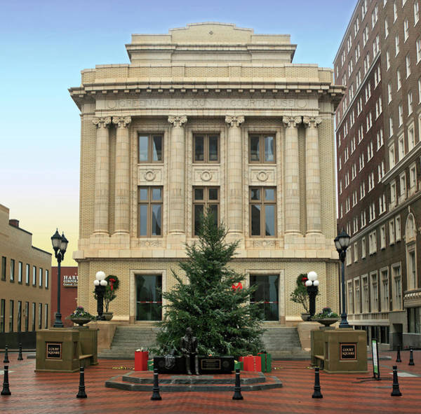 Wall Art - Photograph - Courthouse At Christmas by Greg Joens