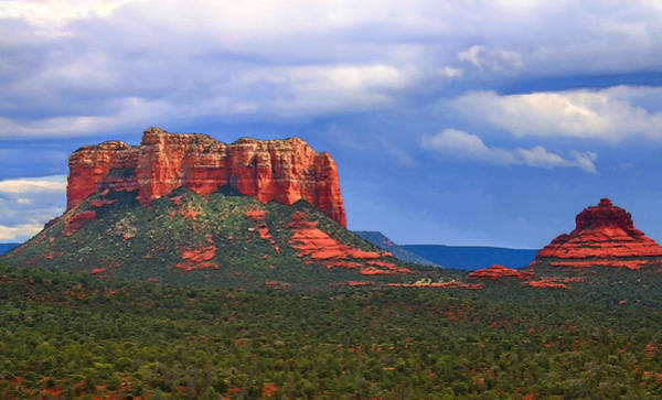 Photograph - Courthouse Butte And Bell Rock  by Ola Allen