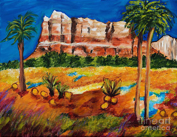 Courthouse Painting - Courthouse Butte Rock, Sedona Arizona by Art by Danielle