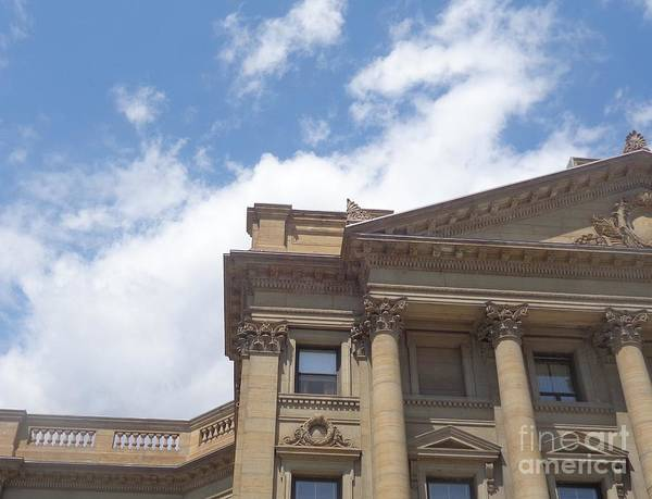 Photograph - Courthouse Details by Christina Verdgeline
