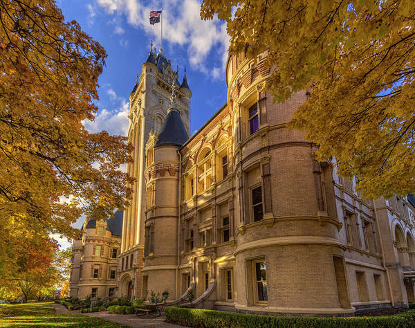 Photograph - Courthouse In Autumn by Mark Kiver