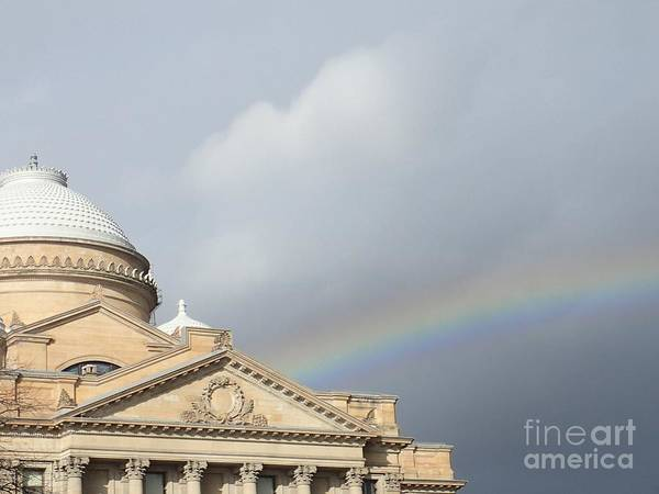 Photograph - Courthouse Rainbow by Christina Verdgeline