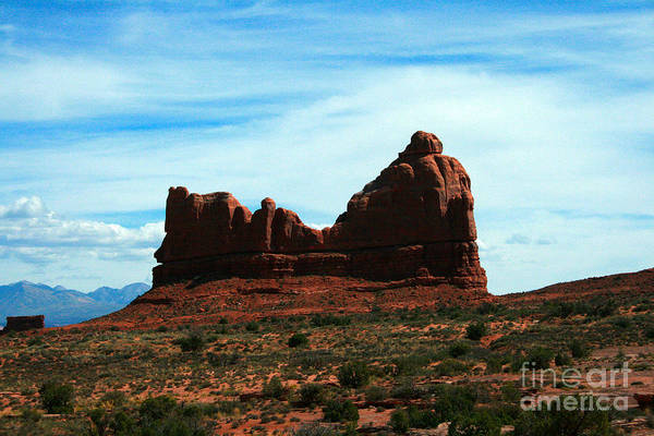 Courthouse Painting - Courthouse Rock In Arches National Park by Corey Ford