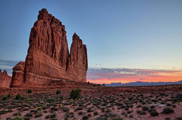 Photograph - Courthouse Towers Arches National Park At Dawn by Kyle Lee