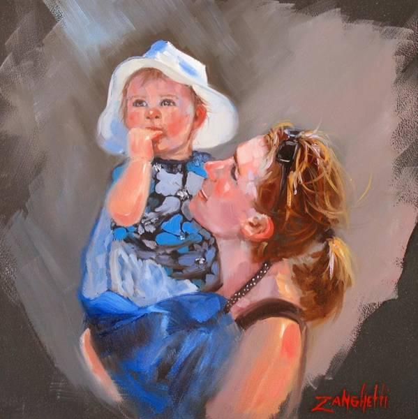 Wall Art - Painting - Courtneys Love by Laura Lee Zanghetti