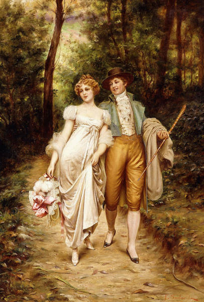 Courtship Wall Art - Painting - Courtship by Joseph Frederic Charles Soulacroix