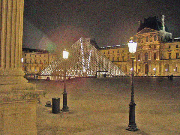 Photograph - Courtyard At The Louvre by Mark Currier
