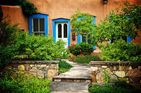 Photograph - Courtyard, Santa Fe, New Mexico by Flying Z Photography by Zayne Diamond