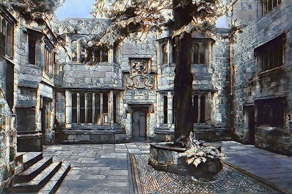 Digital Art - Courtyard Of Skipton Castle by Pennie McCracken