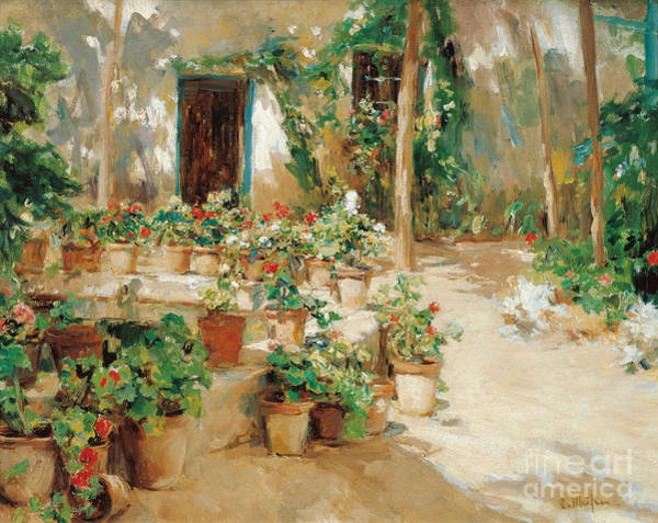 Wall Art - Painting - Courtyard by Celestial Images
