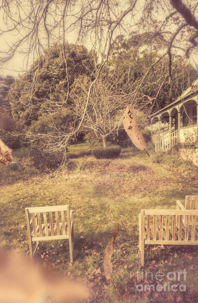 Rustic Furniture Photograph - Courtyards Of Autumn Romance by Jorgo Photography - Wall Art Gallery