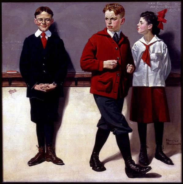 Painting - Cousin Reginald Spells Peloponnesus by Norman Rockwell